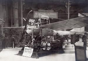 Paris Grand Palais Salon de l'Aeronautique Stand Aviatic Monoplan Aviation Ancienne Photo 1911