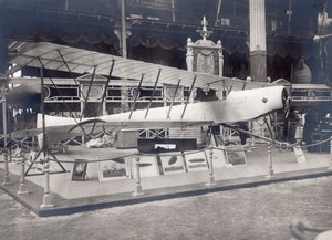 Paris Grand Palais Salon de l'Aeronautique Stand Zodiac Biplan Aviation Ancienne Photo 1911