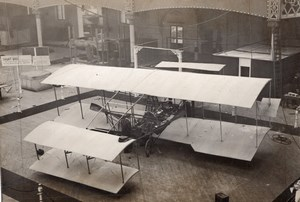 London Olympia Aero & Motor Boat Exhibition Captain Wyndham Biplane Photo 1910