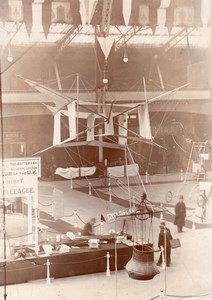 Londres Olympia Salon de l'Aeronautique Cerf Volant Colonel Cody Ancienne Photo 1910