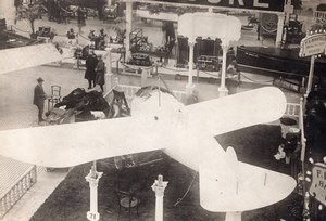 Londres Olympia Salon de l'Aeronautique Piggott monoplan Ancienne Photo Agence Rol 1911