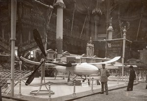 Paris Airshow Grand Palais Paulhan-Tatin Aero Torpedo Regy Old Photo 1911