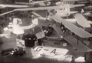 Paris Airshow Grand Palais General View Aviation Airplanes old Andre Photo 1930
