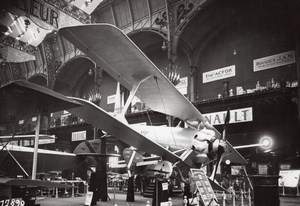 Paris Grand Palais Salon de l'Aeronautique Avion Hanriot D31 Aviation Ancienne Photo Rol 1924