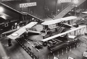 Paris Grand Palais Salon de l'Aeronautique Stand Morane Saulnier Aviation Ancienne Photo Rol 1924