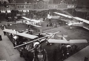 Paris Grand Palais Salon de l'Aeronautique Stand Morane Saulnier Aviation Ancienne Photo Rol 1919