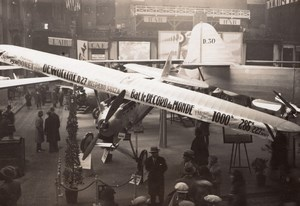 Paris Airshow Grand Palais Dewoitine D27 Marcel Doret Old H. Manuel Photo 1930