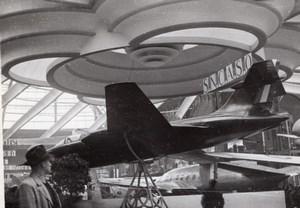 Paris Grand Palais Salon de l'Aeronautique Planeur Aerocentre SNCAC NC271 Ancienne Photo 1946