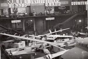 Paris Grand Palais Salon de l'Aeronautique Vue Generale Planeurs Avions Ancienne Photo 1946