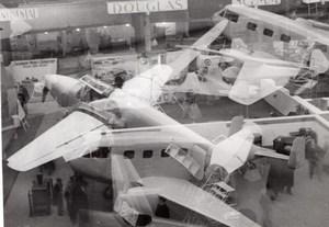 Paris Grand Palais Salon de l'Aeronautique Vue Generale Double Exposition Ancienne Photo 1946