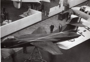 Paris Airshow Grand Palais Fighter Aircraft Aviation old Photo 1946