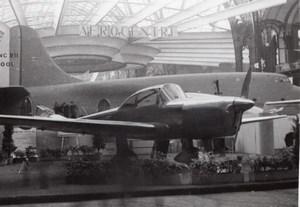Paris Grand Palais Salon de l'Aeronautique Avion Max Holste Ancienne Photo 1946