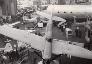 Paris Grand Palais Salon de l'Aeronautique Avion Fairey Firefly Ancienne Photo 1946