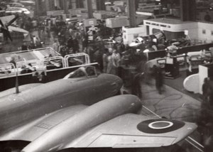 Paris Airshow Grand Palais Gloster Meteor Aircraft Aviation old Photo 1946