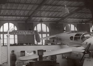 Paris Grand Palais Salon de l'Aeronautique Avion Miles Gemini Ancienne Photo 1946