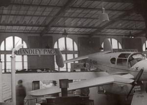 Paris Airshow Grand Palais Miles Gemini Aircraft old Photo 1946