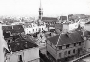 France Saint Cloud Construction Work near Church 2 Old Guillat Photos 1984