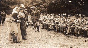 WWI WW1 The Queen at Netley Hospital Wounded Tommies Old Photo 1914-1918