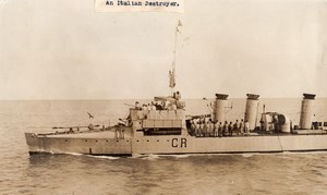 WWI WW1 Italian Destroyer CR War ship Military Old Photo 1914-1918