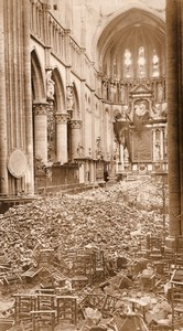 Belgium Ypres Ieper St Martin's Church Ruins Selling Old Photo 1914-1918