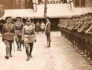 France WWI WW1 Marechal Foch? Revue des Troupes Ancienne Photo vers 1918