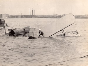 Military Aviation LWF Douglas DT-2 Torpedo Bomber Seaplane Crash Old Photo 1924