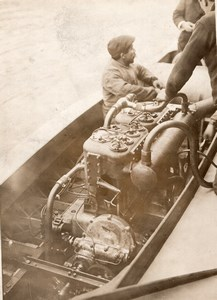 Monaco Motor Boat Racing Brasier-Despujols Engine Old Rapid Photo 1910