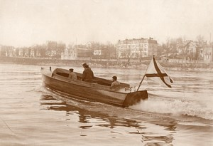 France Despujols Motor Boat for Russian Government Old Rapid Photo 1910
