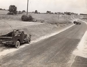 USA Chester SC Military Maneuvers Armored Cars WW2 WWII Old Photo 1941