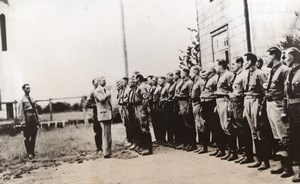 Chile Llanquihue German Ambasasdor Reviews Storm Troopers Old Photo 1941