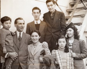 Seattle American Family back from Japan PD Brown Hikawa Maru Old Photo 1941