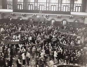 USA New York Stock Exchange on First Day of War WW2 Old Photo 8 December 1941