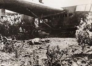 Crete Invasion Giant Glider Crash Dead German Soldiers WWII WW2 Old Photo 1941