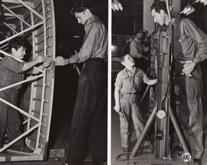 Brewster Lockheed Factories John Giovanco Earl Wallace Gordon Morrison Photo WW2