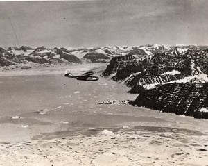 Greenland Consolidated PBY Catalina Flying Boat Patrol WWII WW2 Old Photo 1941