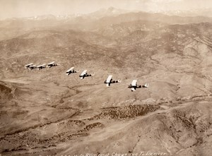 USA US Army Air Corps Aerial Maneuvers Flight Aviation Old Photo 1929