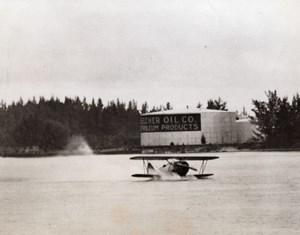 Florida Biscayne Bay Pancake Landing Naval Cadet Robert F. Edmondson Photo 1941