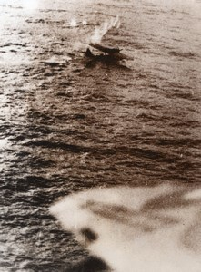German Dornier Flying Boat downed by RAF Coastal Command WWII WW2 Old Photo 1941