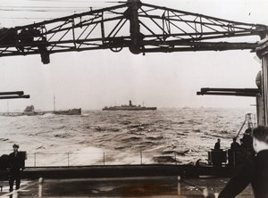 Battleship King George V Munitions & Goods Convoy WWII WW2 Old Photo 1941