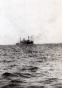 Sinking SS Robin Moor Old Photo taken by crew member Virgil Sanderlin June 1941