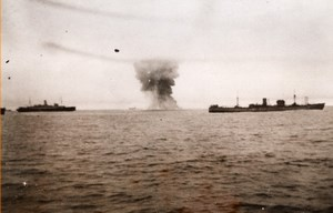 SS British Security Attacked by German Bombers British Convoy WW2 Old Photo 1941