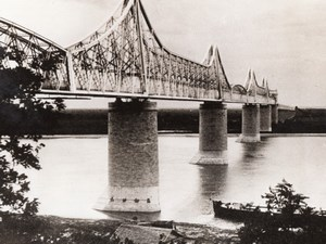 Romania Cernavoda Anghel Saligny Bridge Railroad bridge Danube Old Photo 1941