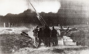 Russia Protecting Moscow Anti Aircraft Gun WWII WW2 Old Photo 1941