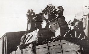 Russie Infanterie Armee Rouge Canon Anti Aerien WWII WW2 Ancienne Photo 1941