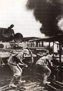 Russie Bataille sur la ligne Smolensk Moscou Tank Russe WWII WW2 Ancienne Photo 1941