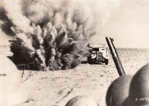 Africa Maghreb or Middle East? British Army Trucks WWII WW2 Old Photo 1941