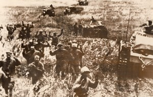 Russia German Troops Capturing Russian Snipers WWII WW2 Old Photo 1941