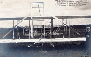 France Aviation Wright Biplane at Le Mans or Pau Old RPPC Photo 1908