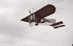 France Aviation Bleriot Monoplane in Flight Old Marque Etoile RPPC Photo 1908