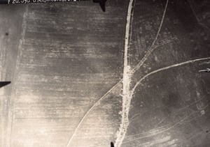 France Meuse WWI Manheulles Manheules Aerial View Lt Ruinet Old Photo 1916
